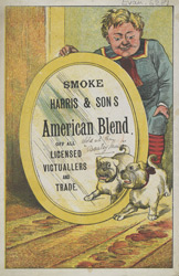 Advert For Harris & Sons American Blend Tobacco